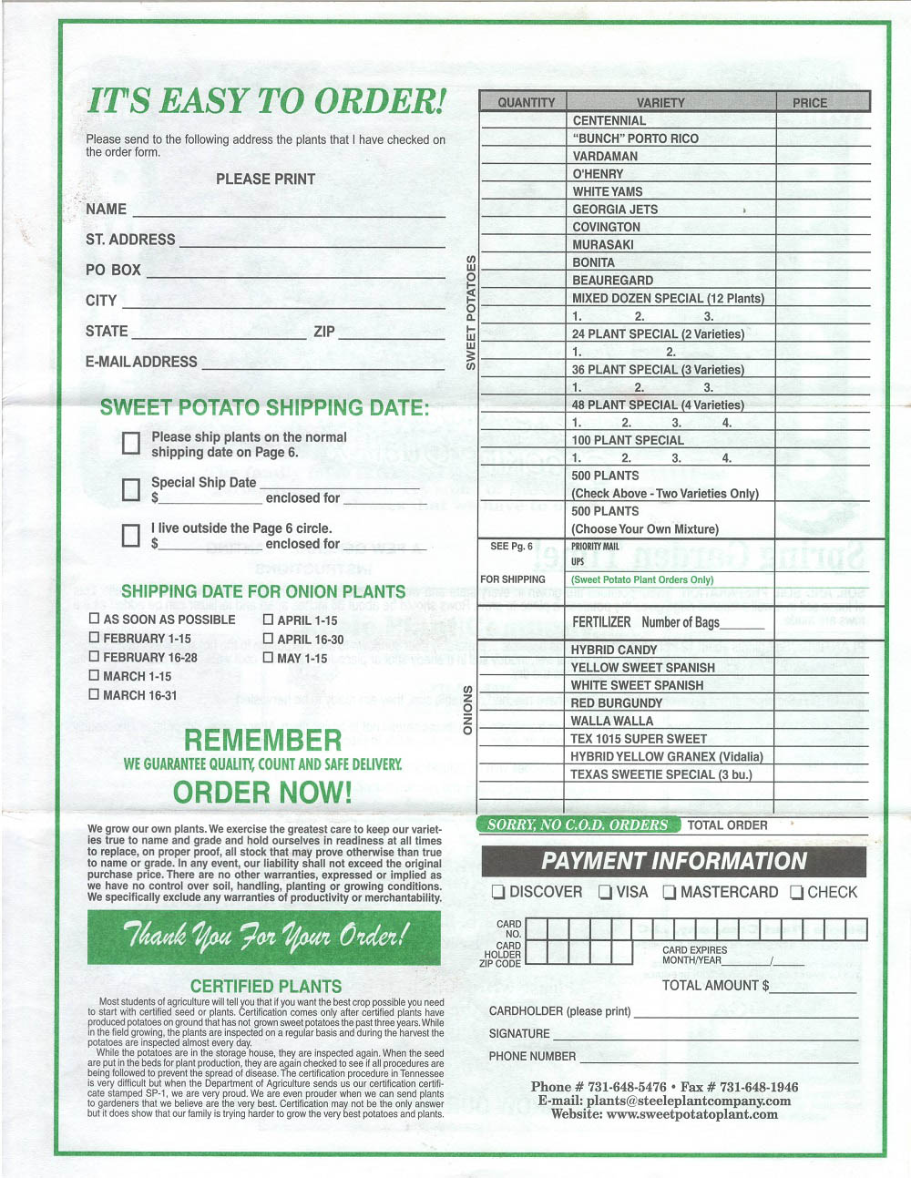For The Convenience Of Our Customers Who Prefer To Order By Mail With A Check Or Money Use Printable Form Below